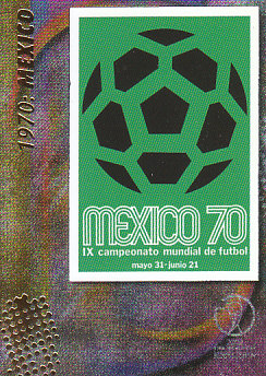 Official Poster 1970 Mexico Panini World Cup 2002 #12