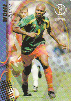 Pierre Wome Cameroon Panini World Cup 2002 #39