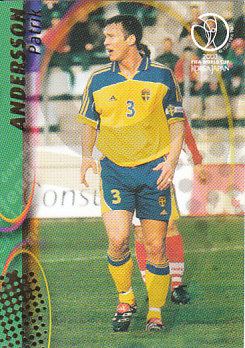 Patrik Andersson Sweden Panini World Cup 2002 #104