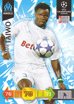 Taye Taiwo Olympique Marseille 2010/11 Panini Adrenalyn XL CL #178