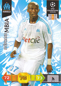 Stephane Mbia Olympique Marseille 2010/11 Panini Adrenalyn XL CL #180
