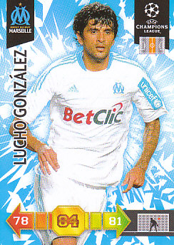 Lucho Gonzalez Olympique Marseille 2010/11 Panini Adrenalyn XL CL #181