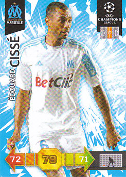 Edouard Cisse Olympique Marseille 2010/11 Panini Adrenalyn XL CL #182
