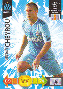 Benoit Cheyrou Olympique Marseille 2010/11 Panini Adrenalyn XL CL #183