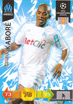 Charles Kabore Olympique Marseille 2010/11 Panini Adrenalyn XL CL #185