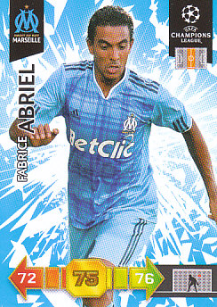Fabrice Abriel Olympique Marseille 2010/11 Panini Adrenalyn XL CL #186