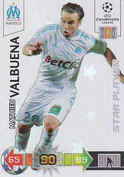 Mathieu Valbuena Olympique Marseille 2010/11 Panini Adrenalyn XL CL Star Player #191