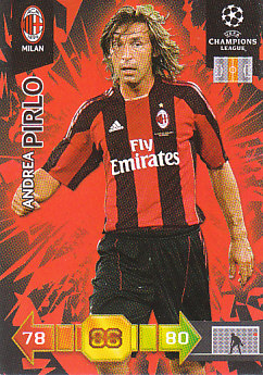 Andrea Pirlo A.C. Milan 2010/11 Panini Adrenalyn XL CL #196