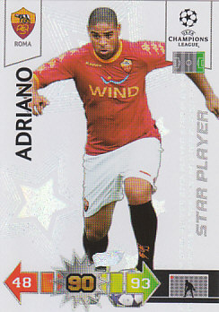 Adriano AS Roma 2010/11 Panini Adrenalyn XL CL Star Player #267