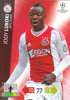 Jody Lukoki AFC Ajax 2012/13 Panini Adrenalyn XL CL #10