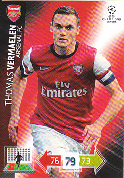 Thomas Vermaelen Arsenal 2012/13 Panini Adrenalyn XL CL #15