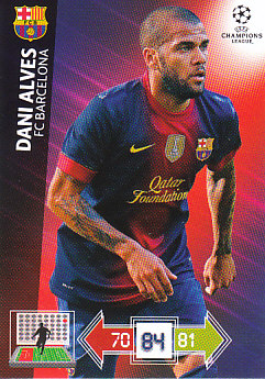 Dani Alves FC Barcelona 2012/13 Panini Adrenalyn XL CL #27