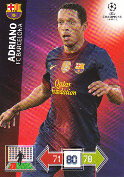 Adriano FC Barcelona 2012/13 Panini Adrenalyn XL CL #31