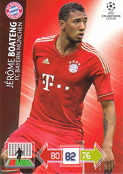 Jerome Boateng Bayern Munchen 2012/13 Panini Adrenalyn XL CL #45