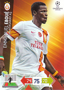 Emmanuel Eboue Galatasaray AS 2012/13 Panini Adrenalyn XL CL #101