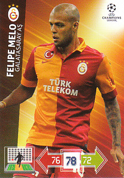 Felipe Melo Galatasaray AS 2012/13 Panini Adrenalyn XL CL #104