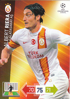 Albert Riera Galatasaray AS 2012/13 Panini Adrenalyn XL CL #105