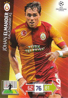 Johan Elmander Galatasaray AS 2012/13 Panini Adrenalyn XL CL #107