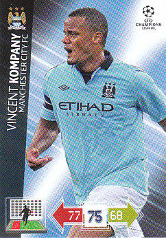 Vincent Kompany Manchester City 2012/13 Panini Adrenalyn XL CL #124