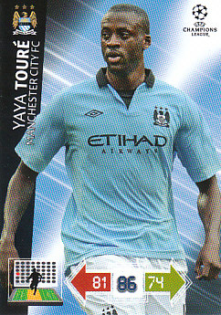 Yaya Toure Manchester City 2012/13 Panini Adrenalyn XL CL #128