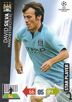 David Silva Manchester City 2012/13 Panini Adrenalyn XL CL #131