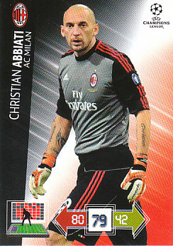 Christian Abbiati A.C. Milan 2012/13 Panini Adrenalyn XL CL #151
