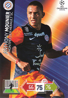 Anthony Mounier Montpellier HSC 2012/13 Panini Adrenalyn XL CL #170