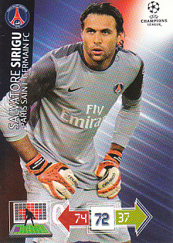 Salvatore Sirigu Paris Saint-Germain 2012/13 Panini Adrenalyn XL CL #205