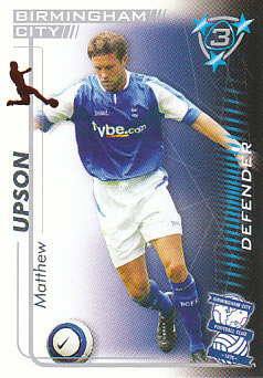 Matthew Upson Birmingham City 2005/06 Shoot Out #41