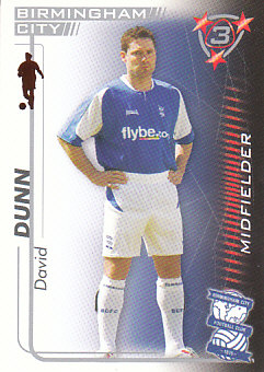 David Dunn Birmingham City 2005/06 Shoot Out #45