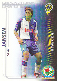 Matt Jansen Blackburn Rovers 2005/06 Shoot Out #69