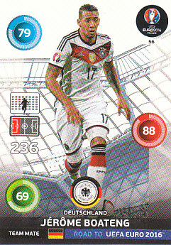 Jerome Boateng Germany Panini Road to EURO 2016 #56