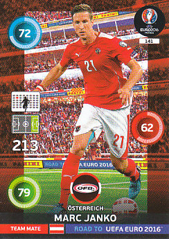 Marc Janko Austria Panini Road to EURO 2016 #141