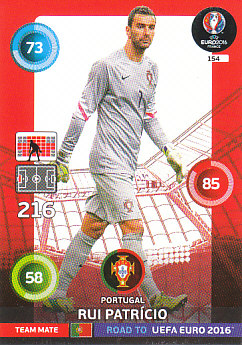 Rui Patricio Portugal Panini Road to EURO 2016 #154