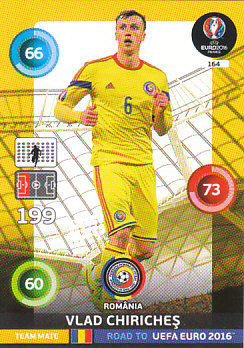 Vlad Chiriches Romania Panini Road to EURO 2016 #164