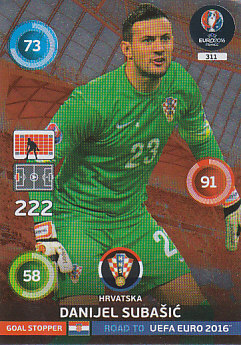 Danijel Subasic Croatia Panini Road to EURO 2016 Goal Stoppers #311