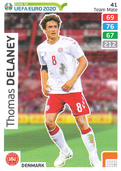 Thomas Delaney Denmark Panini Road to EURO 2020 #41