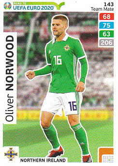Oliver Norwood Northern Ireland Panini Road to EURO 2020 #143