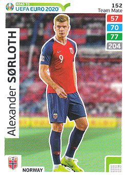 Alexander Sorloth Norway Panini Road to EURO 2020 #152