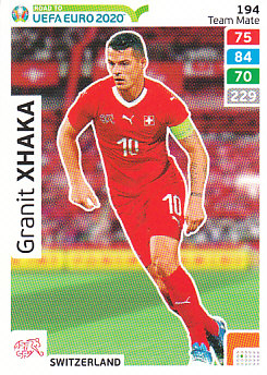 Granit Xhaka Switzerland Panini Road to EURO 2020 #194