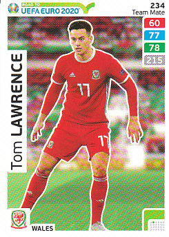 Tom Lawrence Wales Panini Road to EURO 2020 #234