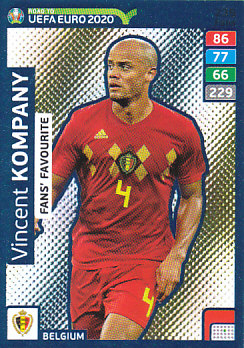 Vincent Kompany Belgium Panini Road to EURO 2020 Fans' Favourite #235