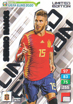 Sergio Ramos Spain Panini Road to EURO 2020 Limited Edition #1013