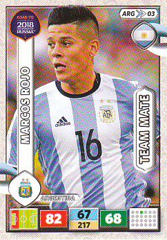 Marcos Rojo Argentina Panini Road to 2018 World Cup #ARG03