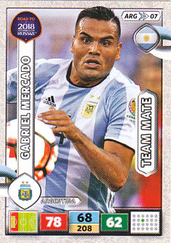 Gabriel Mercado Argentina Panini Road to 2018 World Cup #ARG07