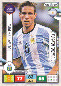 Lucas Biglia Argentina Panini Road to 2018 World Cup #ARG09