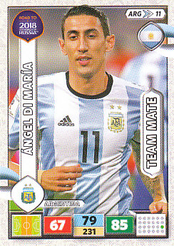 Angel Di Maria Argentina Panini Road to 2018 World Cup #ARG11