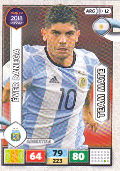 Ever Banega Argentina Panini Road to 2018 World Cup #ARG12