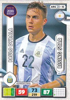 Paulo Dybala Argentina Panini Road to 2018 World Cup Rising Star #ARG15