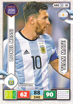 Lionel Messi Argentina Panini Road to 2018 World Cup #ARG18